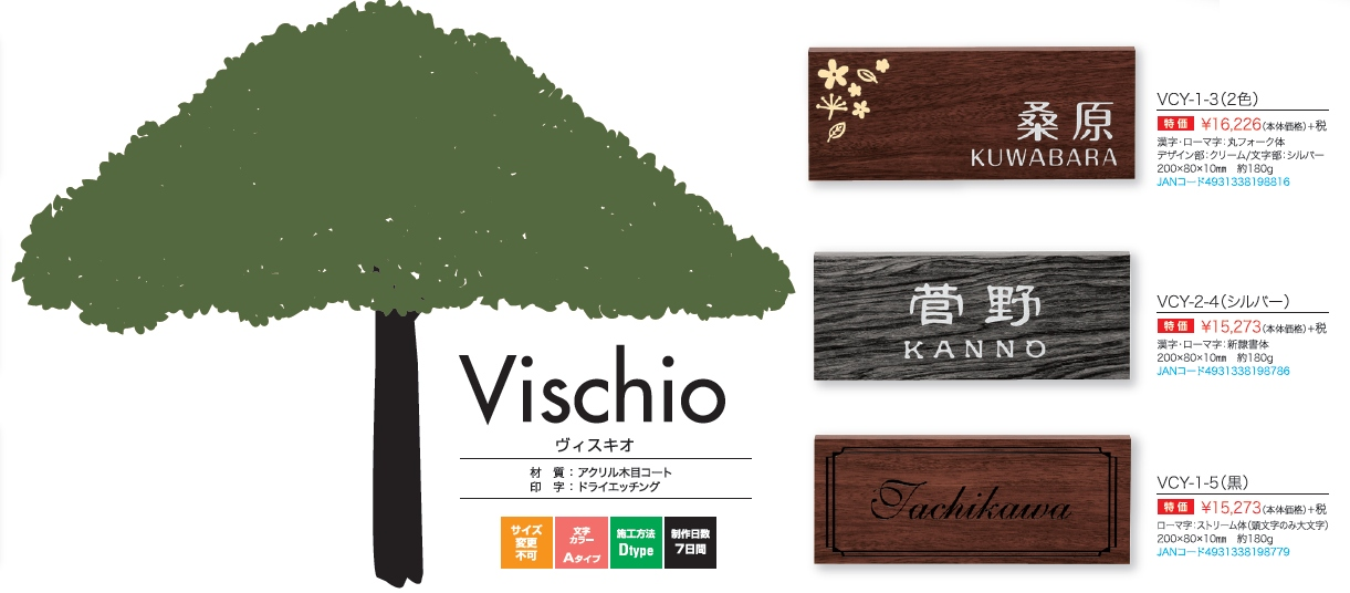丸三タカギ ヴィスキオ(Vischio) 表札画像