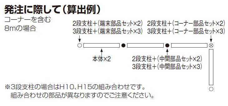 四国化成 LMF10型 2段/3段支柱 発注する場合の説明画像