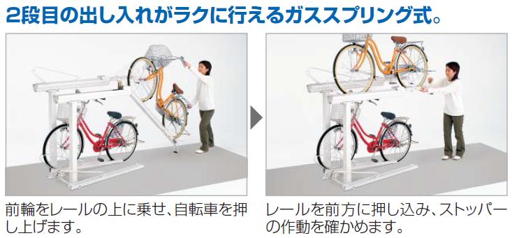 四国化成 2段式サイクルラック1型特長画像