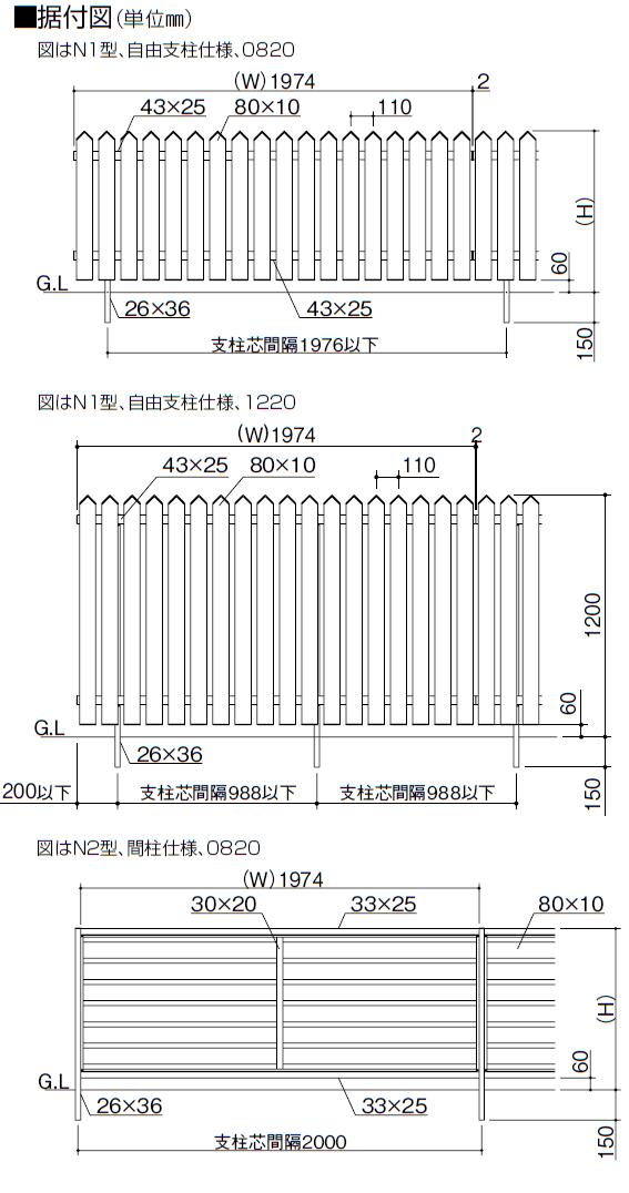 四国化成 テネシーフェンスN1型