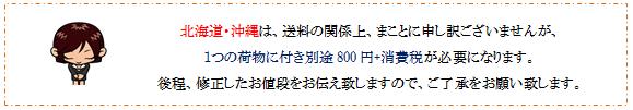 北海道・沖縄の送料について画像