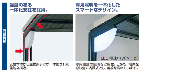 四国化成 サイクルポート SSR-R オープンタイプ商品特長画像