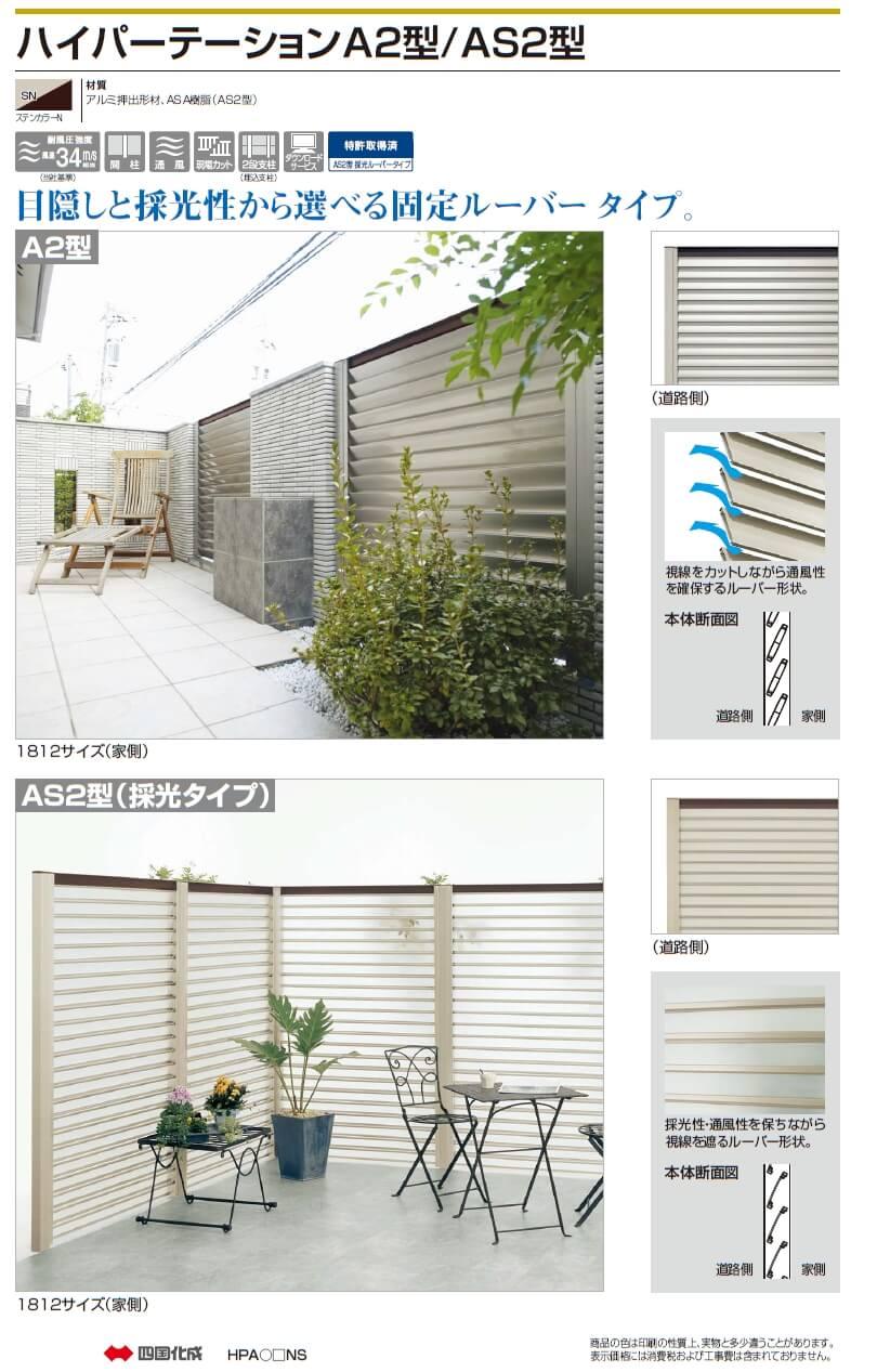 四国化成 ハイパーテーションA2型/ハイパーテーションAS2型画像