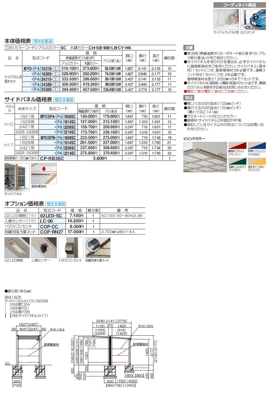四国化成 マイポートOrigin(オリジン)ミニ サイドパネル用画像