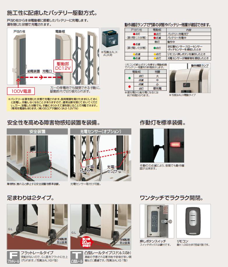 ALXII 電動タイプ 商品特長画像2