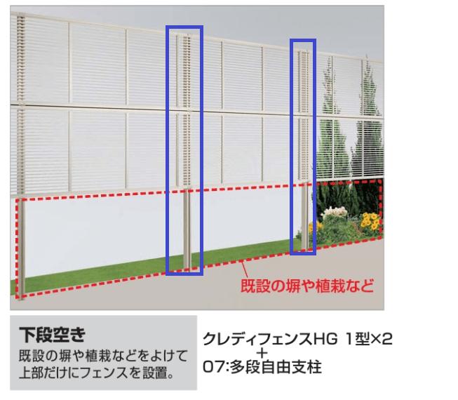四国化成 07・08 多段自由支柱(クレディフェンスHG1〜5B型 PPA1型〜4型専用)画像