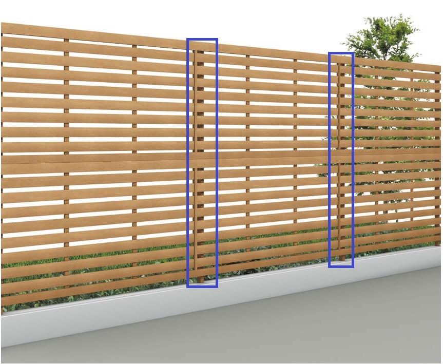 四国化成 11:多段自由支柱(木調カラー アレグリアフェンス用)画像