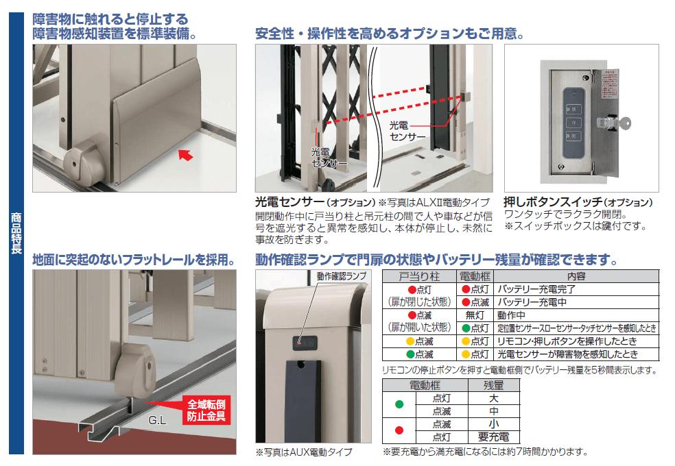 四国化成 アイラインN1型 電動タイプ 商品特長画像
