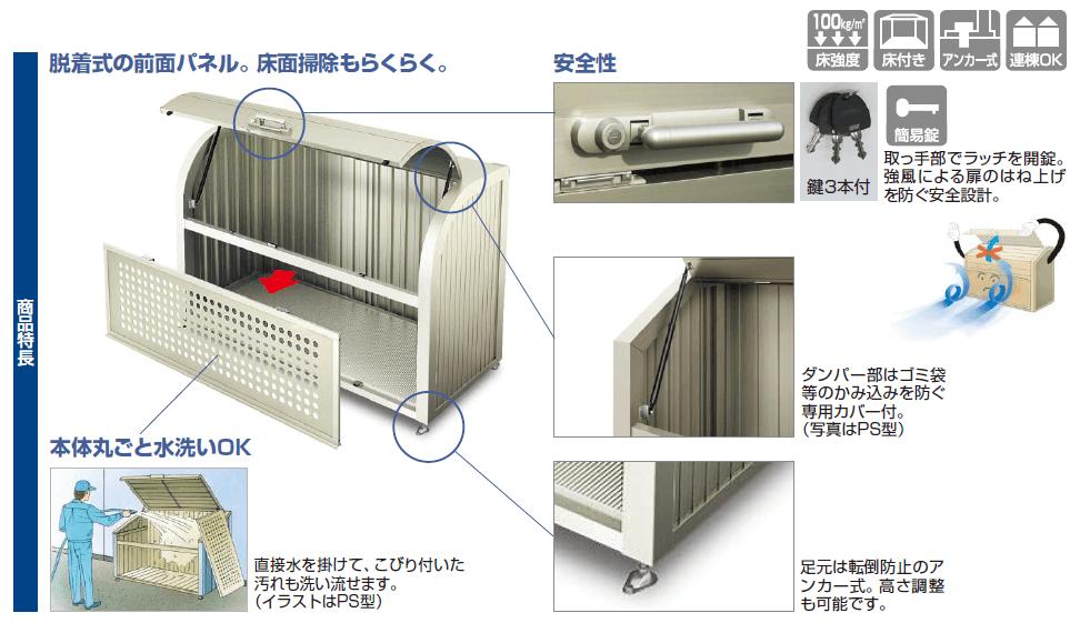 ゴミストッカーPSR型(GPSR-)商品特長画像