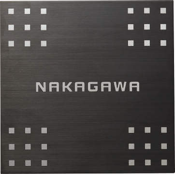 NP-SU3A-HBS(ヘアラインブラック)画像 四国化成 ステンレス表札