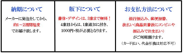 表札(納期・版下・支払方法について)画像