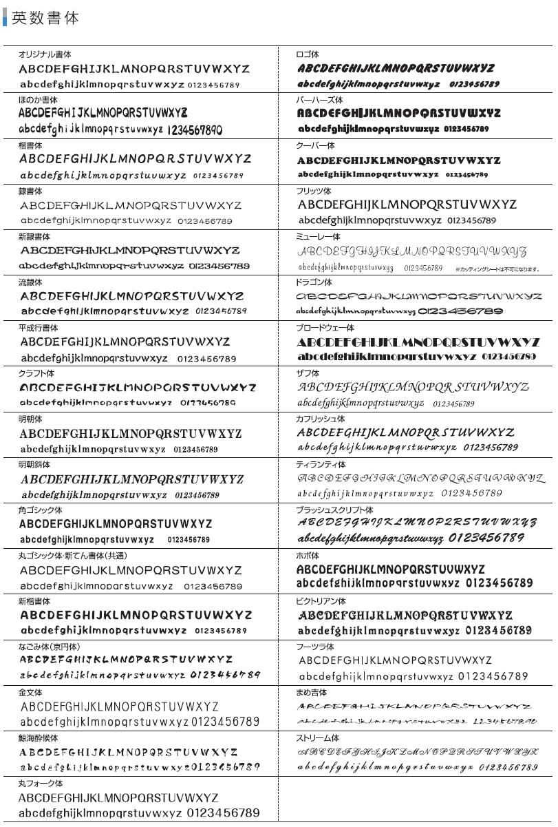ローマ字書体一覧