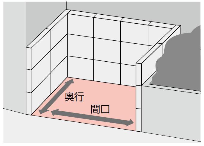 ゴミストッカーサイズの測り方画像