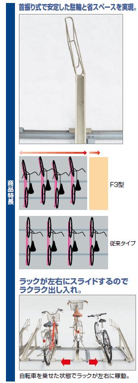 四国化成 スライド式ラックF3型 商品特長画像