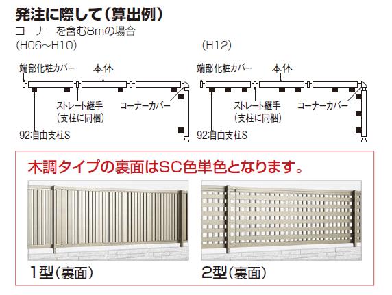 アルディフェンス1型/アルディフェンス2型 フェンス枚数の数え方画像
